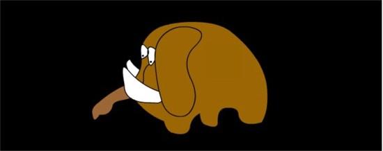 Un mamut chiquitito quería volar